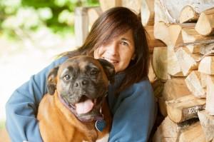 Helen and dog